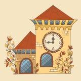 Casa blanca de la hada del esquema Imagen de archivo