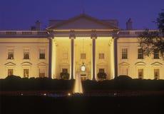 Casa Blanca en la oscuridad, Washington D C , los E Foto de archivo