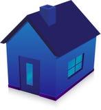 Casa blu Immagini Stock Libere da Diritti