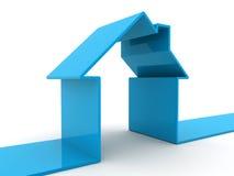 Casa blu Fotografia Stock