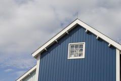 Casa blu Fotografie Stock