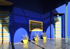 Casa blu di Majorelle a Marrakesh Immagini Stock Libere da Diritti