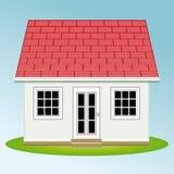 Casa bonita com jardim propriedade Casas dos bens imobiliários?, planos para a venda ou para o aluguel ilustração royalty free