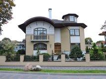 Casa bonita, Letónia Fotos de Stock Royalty Free