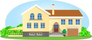 Casa bonita no meio do verão Foto de Stock Royalty Free