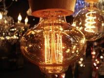 Casa bonita retro da luz elétrica fotografia de stock royalty free