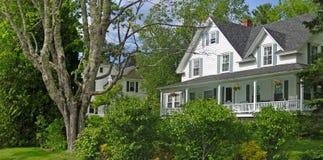 Casa branca de Nova Inglaterra Fotografia de Stock