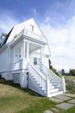Casa branca na costa de Maine Fotografia de Stock