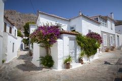Casa branca na ilha do Hydra, Grécia Imagens de Stock