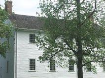 Casa branca velha Fotografia de Stock