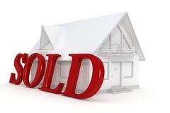 Casa branca vendida Imagem de Stock
