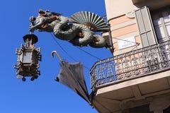 Casa Bruno Cuadros - Βαρκελώνη, Ισπανία Στοκ εικόνα με δικαίωμα ελεύθερης χρήσης