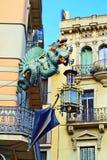 Casa Bruno Cuadros House of Umbrellas of Barcelona. The Casa Bruno Cuadros of Barcelona, known by locals as the Casa dels Paraigües House of Umbrellas at La Stock Image
