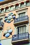 The Casa Bruno Cuadros House of Umbrellas of Barcelona Stock Photo