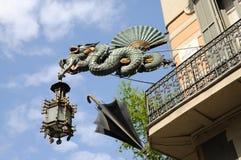 Casa Bruno Quadros in Barcelona. Chinese Dragon at Casa Bruno Quadros in Barcelona, Spain Stock Images