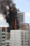 Casa Burning Fotografia Stock Libera da Diritti