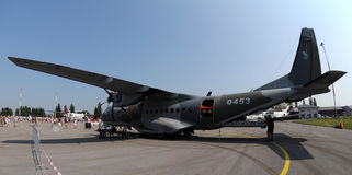 Casa C 295M - twin- turboprop Royalty Free Stock Images