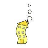 casa cômica engraçada dos desenhos animados Imagens de Stock Royalty Free