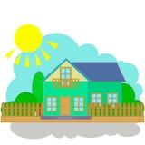 Casa, cabaña ilustración del vector