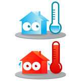 Casa caliente y fría stock de ilustración