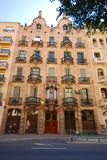 Casa Calvet. The Casa Calvet/Calvet House by Antoni Gaudi in Barcelona, Spain stock photos