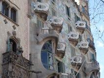 Casa Calvet, Barcelona del ` s de Gaudi Foto de archivo