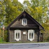Casa campesina única vieja de 1830 Foto de archivo