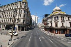 Casa CapÅŸa, capitolio del hotel, Cercul Militar nacional, zona metropolitana, señal, zona urbana, ciudad imagen de archivo