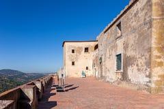 Casa Capelo House inside the Castelo de Palmela Castle. stock photos