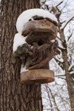 Casa caprichosa para los pájaros, pajarera Imagen de archivo libre de regalías