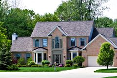 Casa cara de Surburan Imagem de Stock Royalty Free