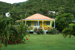 Casa caraibica Fotografia Stock Libera da Diritti