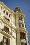 Casa Carbonell in Alicante. ALICANTE, SPAIN - SEPTEMBER 9, 2014: The corner of the house Casa Carbonell in city Alicante, Valencia, Spain Stock Images