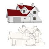 Casa, casa de campo Imagens de Stock