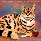 Casa Cat Illustration ilustración del vector