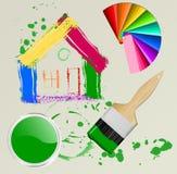 Casa, cepillo stock de ilustración