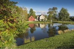 Casa cerca de Stowe Vermont Imagen de archivo libre de regalías