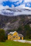 Casa cerca de Trollstigen - Noruega Imagen de archivo