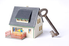 Casa chave Foto de Stock Royalty Free