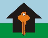 Casa chave BG imagens de stock