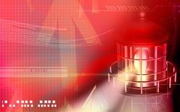 Casa chiara con luce rossa illustrazione di stock