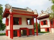 Casa china roja Fotos de archivo libres de regalías