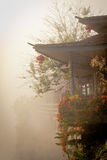 Casa cinese in nebbia Fotografia Stock Libera da Diritti