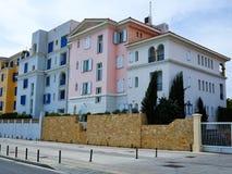 Casa cipriota Cipro di stile del Mediterraneo locale tipico fotografia stock libera da diritti