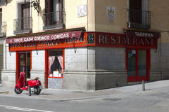 Casa Ciriaco. Madrid. Spanien Arkivfoto