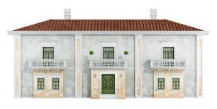 Casa clásica en blanco stock de ilustración