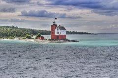 Casa clara da ilha redonda, Michigan Fotografia de Stock Royalty Free