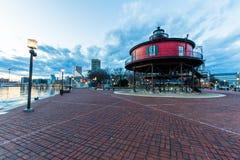 Casa clara do outeiro de sete pés em Baltimore, Maryland fotografia de stock royalty free