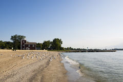 Casa clara Luna Pier Michigan Imagens de Stock