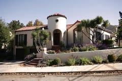 Casa classica sulla penisola di sud della California di San Francisco. Fotografia Stock Libera da Diritti
